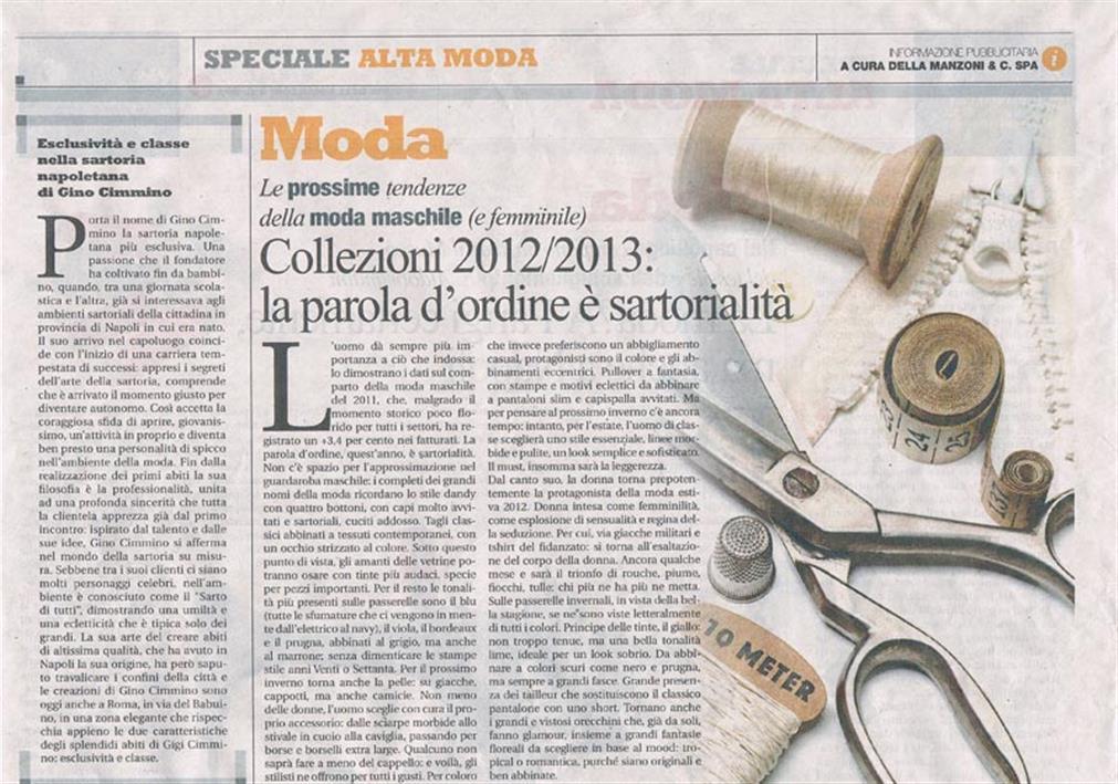 Speciale Alta Moda – Esclusività e Classe nella sartoria napoletana di Gino Cimmino