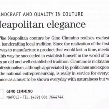 Neapolitan Elegance – Cimmino: Artigianato e Qualità